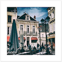 Beaune, Bourgogne, France - Colour version. Inkjet pigment print on Canson Infinity Rag Photographique 310gsm 100% cotton museum grade Fine Art and photo paper.<br />