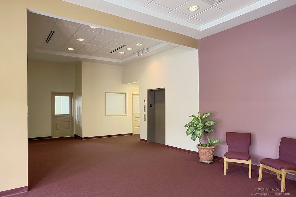Towson Maryland interior photography of Mount Calvery AME Life and Educations Center by Jeffrey Sauers of Commercial Photographics