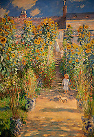 National Gallery, Washington DC. Painting of Monet's garden at Vétheuille
