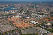 Old General Motors Plant now Duke properties aerial view toward Baltimore and Key Bridge