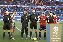 February 3, 2019 - Pamplona, Spain - Captains of both teams and the referees are seen before the Spanish football of La Liga 123, match between CA Osasuna and  Granada CF at the Sadar stadium, in Pamplona (Navarra), Spain. (Credit Image: © Fernando Pidal/SOPA Images via ZUMA Wire)