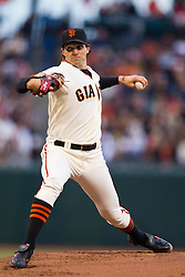 July 26, 2010; San Francisco, CA, USA;  San Francisco Giants starting pitcher Barry Zito (75) pitches against the Florida Marlins during the first inning at AT&T Park.