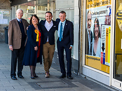 Pictured: <br /> Scottish Liberal Democrat candidate for Edinburgh West, Christine Jardine launched her campaign today for the Weastminster Parliament. She wase joined by former leader Menzies Campbell, MSP Alex Cole-Hamilton and Scottish Liberal Democrat leader Willie Rennie.<br /> <br /> Ger Harley | EEm 6 May2017
