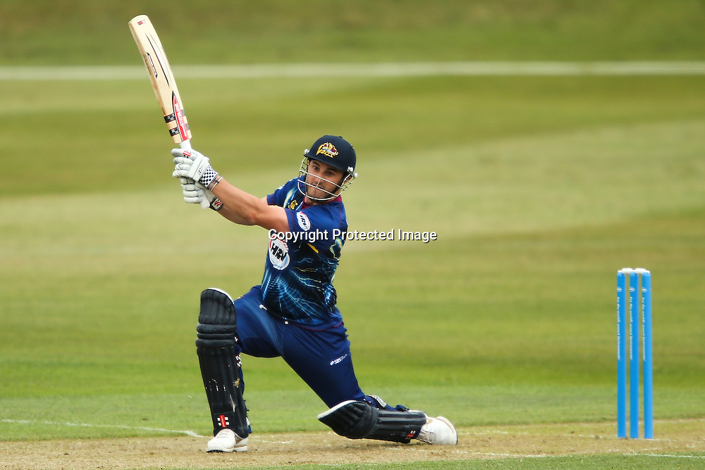Otago's Hamish Rutherford bats during the HRV Cup Twenty20 Cricket match between Canterbury Wizards and Otago Volts at Aorangi Oval, Timaru on Thursday 27 December 2012. Photo: Martin Hunter/Photosport.co.nz