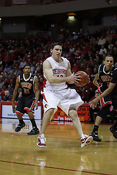 01 December 2010: Alex Rubin grabs a loose ball during an NCAA basketball game between the University of Nevada Las Vegas Runnin' Rebels and the Illinois State Redbirds at Redbird Arena in Normal Illinois.