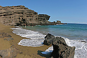 Green Sand Beach, South Point, Island of Hawaii, Hawaii, USA