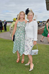 LADY ELOISE GORDON-LENNOX and her mother the COUNTESS OF MARCH at day 3 of the Qatar Glorious Goodwood Festival at Goodwood Racecourse, Chechester, West Sussex on 28th July 2016.