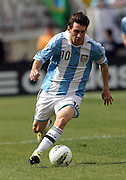 JUNE 09 2012:   Lionel Messi (10) of Argentina in action against Brazil during an international friendly match at Metlife Stadium in East Rutherford,New Jersey. Argentina won 4-3.