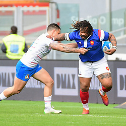Mathieu Bastareaud of France during the Guinness Six Nations match between Italy and France on March 16, 2019 in Rome, Italy. (Photo by Dave Winter/Icon Sport)