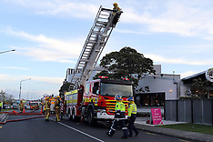 Auckland-Fire in ceiling of Lynn Mall restaurant
