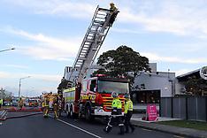 Auckland-Fire in ceiling of Lynn Mall restaurant