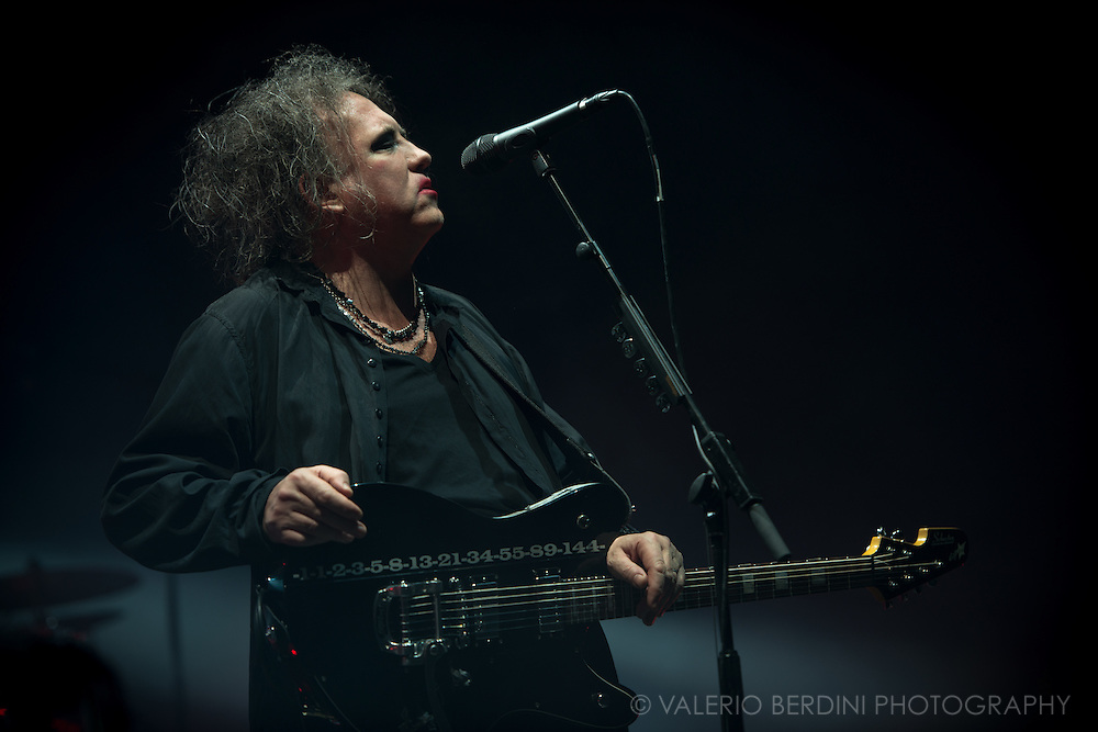 Robert Smith of the Cure on the last date of their world tour 2016, after a year around the world the band closed in style at the Wembley Arena in London on 3 December 2016
