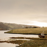 A fishing boat with morning light in Southern Donegal, Ireland.
