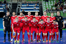 Players of team Russia during futsal match between National teams of Kazakhstan and Russia at Day 5 of UEFA Futsal EURO 2018, on February 3, 2018 in Arena Stozice, Ljubljana, Slovenia. Photo by Urban Urbanc / Sportida