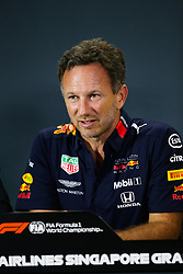 September 20, 2019, Singapore, Singapore: Motorsports: FIA Formula One World Championship 2019, Grand Prix of Singapore, .Christian Horner (GBR, Aston Martin Red Bull Racing) (Credit Image: © Hoch Zwei via ZUMA Wire)