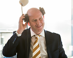 © Licensed to London News Pictures . 25/09/2015 . Doncaster , UK . PAUL NUTTELL being interviewed for BBC Radio 4 at the 2015 UKIP Party Conference at Doncaster Racecourse , this morning (Friday 25th September 2015) . Photo credit : Joel Goodman/LNP