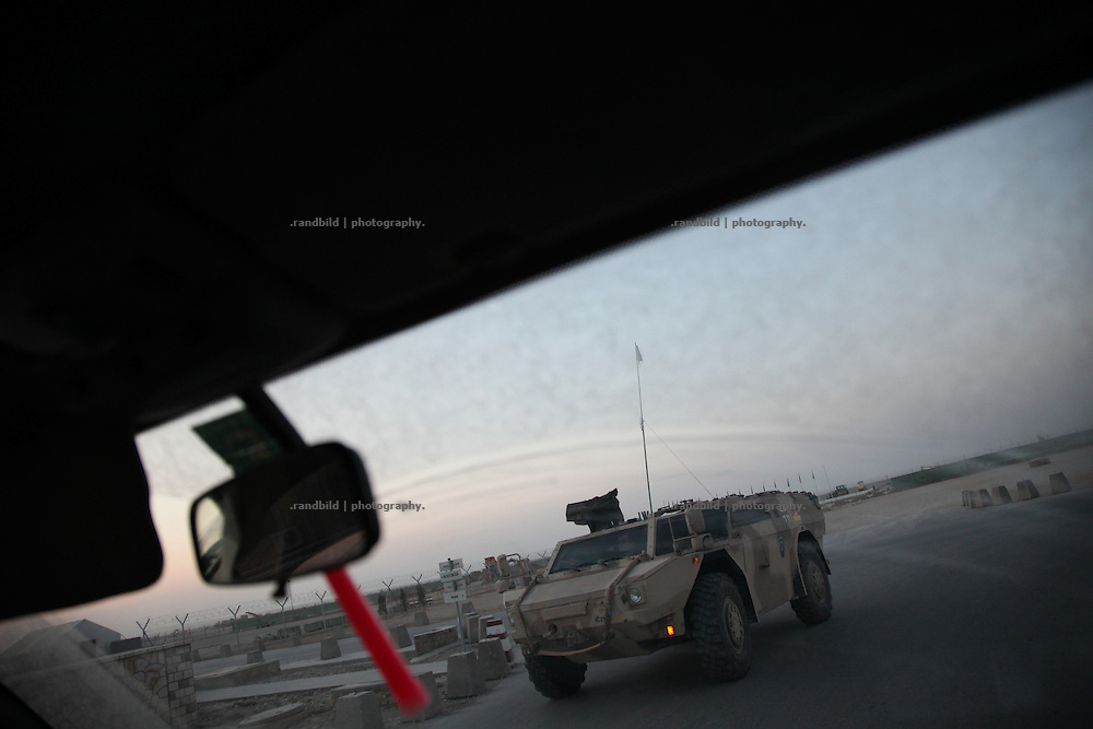 Am armored Fennek drives through Camp Marmal, Mazar-e Sharif, Afghanistan.