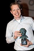 Uitreiking van de Annie  M.G. Schmidtprijs 2012 in het Amsterdamse Theater Bellevue.<br /> <br /> Op de foto: Jan Beuving winnaar Annie M.G. Schmidtprijs 2012