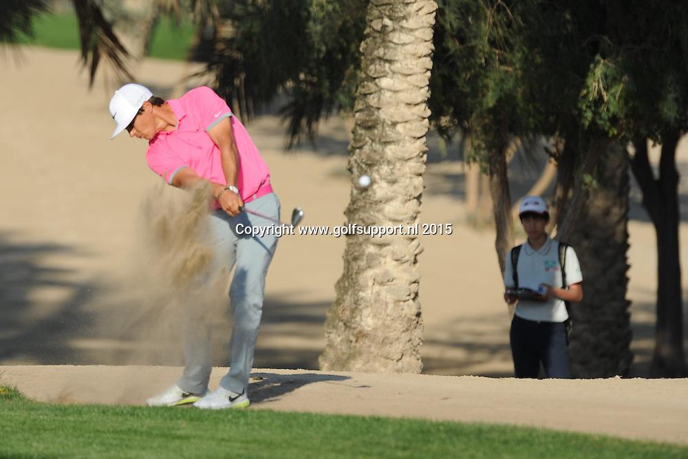 30/01/2015 European Tour 2015, Omega Dubai Desert Classic, Emirates GC, Dubai, UAE. 29 Jan - 01 Feb. Thorbjorn  Olesen of Denmark during the second round.
