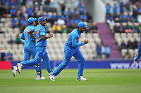 Cricket - 2019 ICC Cricket World Cup - Group Stage: South Africa vs. India<br /> <br /> Rohit Sharma of India celebrates making the catch to take Indias first wicket of the World cup at the Hampshire Bowl Southampton England<br /> <br /> COLORSPORT/SHAUN BOGGUST