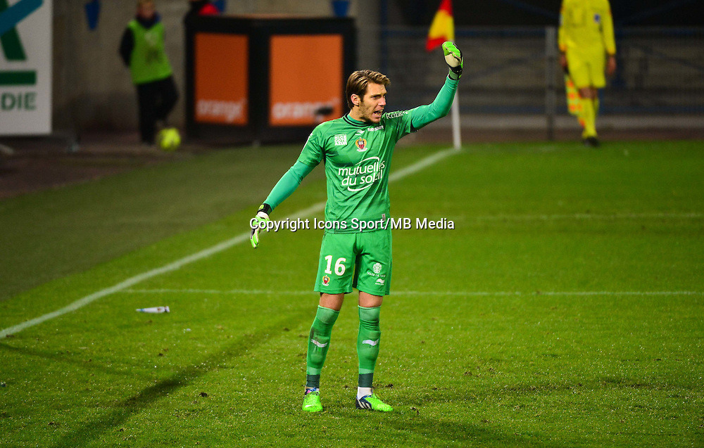 Simon POUPLIN - 06.12.2014 - Caen / Nice - 17eme journee de Ligue 1 -<br />