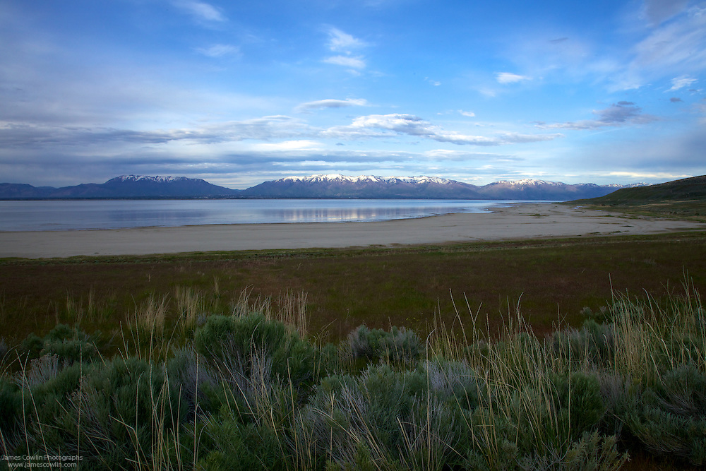Wasatch Range Across the Great Salt Lake from Antelope Island in Utah