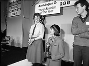 08/01/1988.01/08/1988.8th January 1988 .The Aer Lingus Young Scientist of the Year Award at the RDS, Dublin..L-R The Young Scientist of the Year, Siobhan Langan-O'Keeffe from Navan Community College, Co. Meath, Aer Lingus Hostess and Fergal McAleavey, best group project.