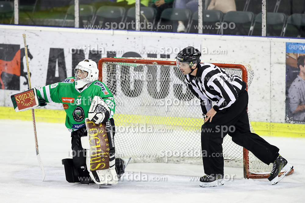 Tilen Spreitzer of Olimpija during ice hockey match between HDD Olimpija Ljubljana and HDD SIJ Acroni Jesenice in Final of Slovenian League 2016/17, on April 6, 2017 in Hala Tivoli, Ljubljana, Slovenia. Photo by Matic Klansek Velej/ Sportida
