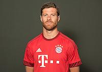 German Soccer Bundesliga 2015/16 - Photocall of FC Bayern Munich on 16 July 2015 in Munich, Germany: Xabi Alonso