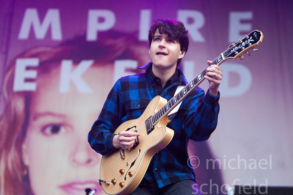 Ezra Koenig of Vampire Weekend play on the main stage..Rockness, Sunday 13th June..Pic ©2010 Michael Schofield. All Rights Reserved.