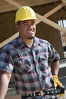 Construction worker standing on construction site