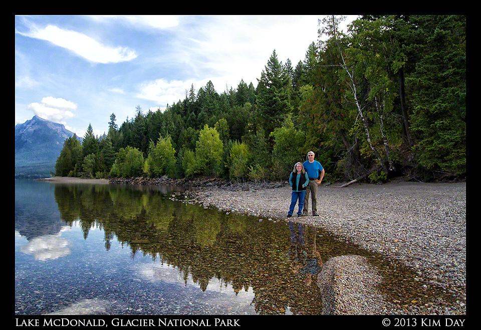 Dianne and Doug at Lake McDonald<br /> Glacier National Park<br /> September 2013