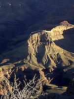 Sunrise Light on Butte, Grand Canyon National Park, Arizona