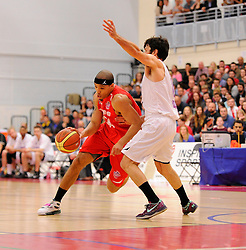 Bristol Flyers' Greg Streete drives forward  - Photo mandatory by-line: Joe Meredith/JMP - Mobile: 07966 386802 - 18/04/2015 - SPORT - Basketball - Bristol - SGS Wise Campus - Bristol Flyers v Leeds Force - British Basketball League