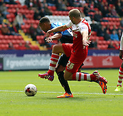 Tal Ben Haim last ditch tackle to stop Bournemouth scoring during the Sky Bet Championship match between Charlton Athletic and Bournemouth at The Valley, London, England on 2 May 2015. Photo by Matthew Redman.