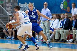 Alessandro Gentile #5 of Italy vs Sasu Salin #9 of Finland during basketball match between national team of Italy and Finland of Eurobasket 2013 on September 7, 2013 in Arena Bonifika, Koper, Slovenia. (Photo By Matic Klansek Velej / Sportida.com)