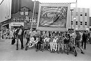 Treeton banner, 1983 Yorkshire Miner's Gala. Barnsley