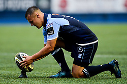 Jarrod Evans of Cardiff Blues prepares to take a kick - Mandatory by-line: Ryan Hiscott/JMP - 05/10/2019 - RUGBY - Cardiff Arms Park - Cardiff, Wales - Cardiff Blues v Edinburgh Rugby - Guinness Pro 14