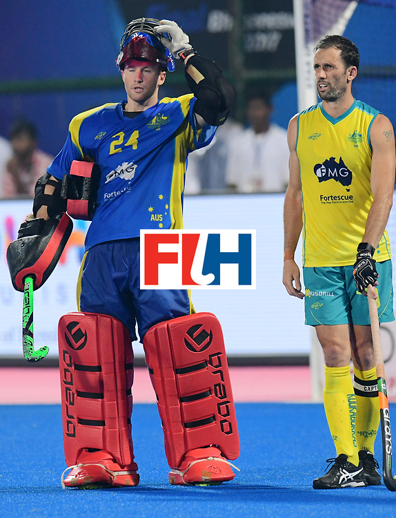 Odisha Men's Hockey World League Final Bhubaneswar 2017<br /> Match id:22<br /> Argentina v Australia Final<br /> Foto: keeper Tyler Lovell (Aus) <br /> COPYRIGHT WORLDSPORTPICS FRANK UIJLENBROEK