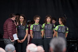 Joëlle Numainville talks about her previous podium at Ronde van Vlaanderen at the Women's Ronde van Vlaanderen 2017 Team Presentation.