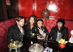 Left to right, lead singer from the Kings of Leon CALEB FOLLOWILL, ?, NATALIE IMBRUGLIA and JOSH HARTNETT at the opening of the Buddha Bar, Victoria Embankment, London on 8th September 2008.<br /> <br /> NON EXCLUSIVE - WORLD RIGHTS