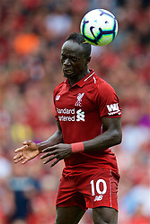 LIVERPOOL, ENGLAND - Sunday, August 12, 2018: Liverpool's Sadio Mane during the FA Premier League match between Liverpool FC and West Ham United FC at Anfield. (Pic by David Rawcliffe/Propaganda)