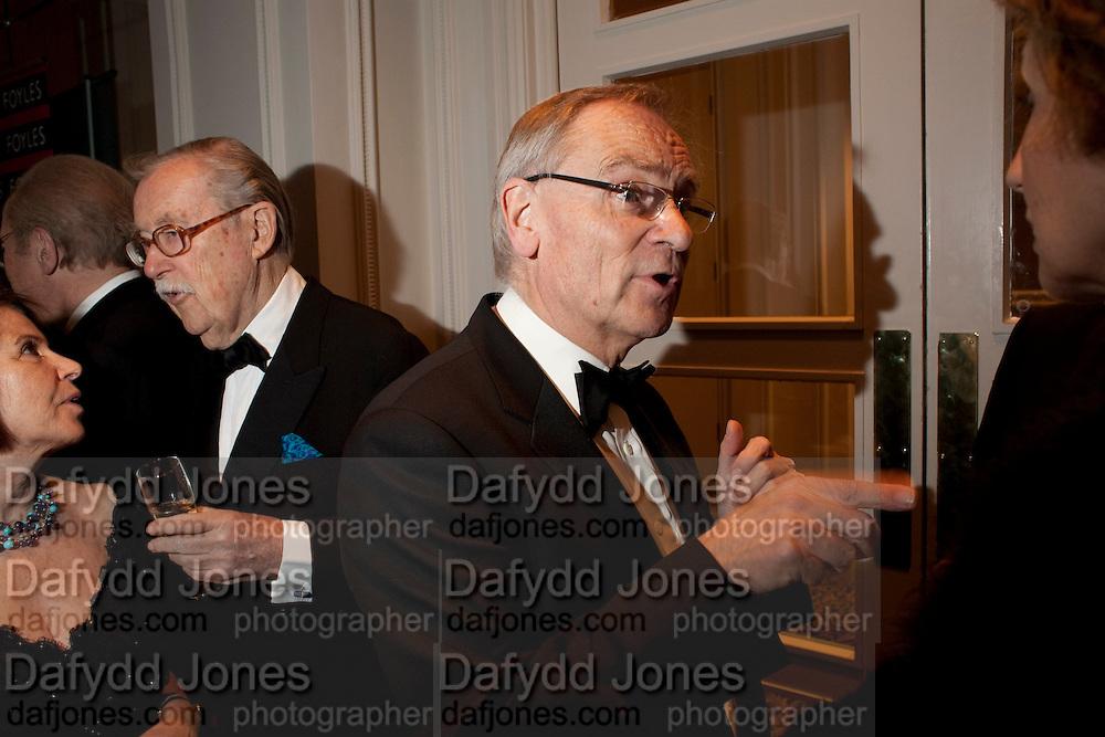 SIR ALAN WHICKER; LORD JEFFREY ARCHER, 80th anniversary gala dinner for the FoylesÕ Literary Lunch. Ballroom. Grosvenor House Hotel. Park Lane. London. 21 October 2010. -DO NOT ARCHIVE-© Copyright Photograph by Dafydd Jones. 248 Clapham Rd. London SW9 0PZ. Tel 0207 820 0771. www.dafjones.com.<br /> SIR ALAN WHICKER; LORD JEFFREY ARCHER, 80th anniversary gala dinner for the Foyles' Literary Lunch. Ballroom. Grosvenor House Hotel. Park Lane. London. 21 October 2010. -DO NOT ARCHIVE-© Copyright Photograph by Dafydd Jones. 248 Clapham Rd. London SW9 0PZ. Tel 0207 820 0771. www.dafjones.com.