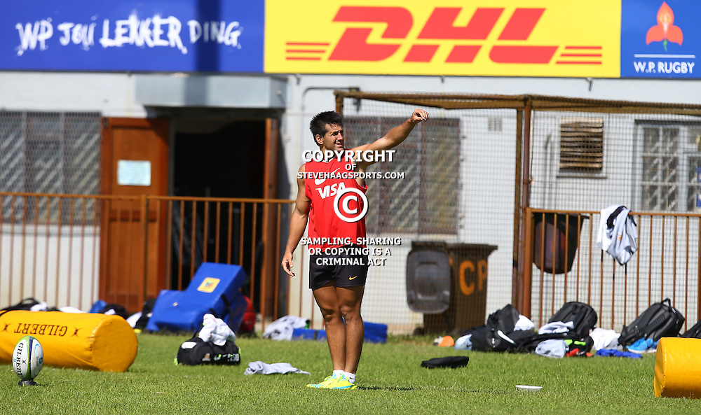 Cape Town, SOUTH AFRICA,  12, February  2016 - Santiago Gonzalez Iglesias during the Captain Run for The Jaguares at City Park Newlands Rugby Stadium Cape Town, South Africa. (Photo by Steve Haag)<br /> <br /> Images for social media must have consent from Steve Haag