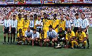 FIFA World Cup - France 1998<br /> 21.6.1998, Parque des Princes, Paris, France.<br /> Group H, Argentina v Jamaica.<br /> Teams pose together before the match.