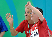 MOTOR ACTIVITIES TRAINING PROGRAM (MATP) DURING SPECIAL OLYMPICS EUROPEAN SUMMER GAMES - WARSAW 2010..IT IS AN OFFICIALLY ACCLAIMED SPECIAL OLYMPICS SPORT - BASED PROGRAM...THE IDEA OF SEPCIAL OLYMPICS IS THAT, WITH APPROPRIATE MOTIVATION AND GUIDANCE, EACH PERSON WITH INTELLECTUAL DISABILITIES CAN TRAIN, ENJOY AND BENEFIT FROM PARTICIPATION IN INDIVIDUAL AND TEAM COMPETITIONS...WARSAW , POLAND , SEPTEMBER 23, 2010..MANDATORY CREDIT:.PHOTO BY ADAM NURKIEWICZ / MEDIASPORT