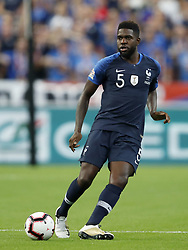 Samuel Umtiti of France during the UEFA Nations League A group 1 qualifying match between France and The Netherlands on September 09, 2018 at Stade de France in Saint Denis,  France