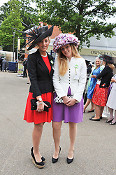 Left to right, LYDIA SHACKLETON and CORDELIA SHACKLETON daughters of Fiona Shackleton at day 2 of the 2011 Royal Ascot Racing festival at Ascot Racecourse, Ascot, Berkshire on 15th June 2011.
