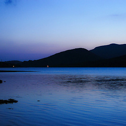 The sun sets on Leenane bay  on the west coast of Ireland in May 2004. (Christina Paolucci, photographer)