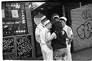 Sailors, Times Square,New York 1992© Copyright Photograph by Dafydd Jones 66 Stockwell Park Rd. London SW9 0DA Tel 020 7733 0108 www.dafjones.com
